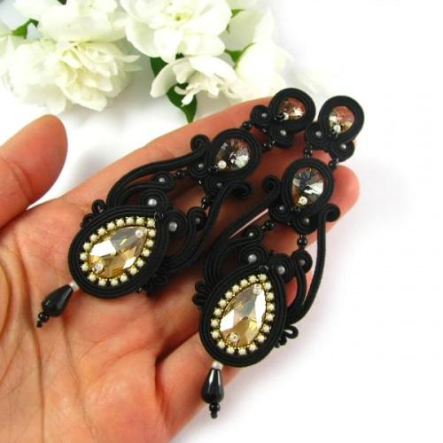 Kandelabrowe kolczyki z kryształami Swarovski