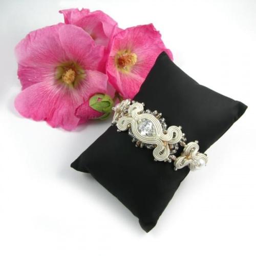 Bransoletka do ślubu z perłami i cyrkoniami