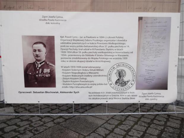 Kapitan Paweł Cyms i Bolesław Kasprowicz Gniezno Rynek opr. S.Błochowiak i A.Sych