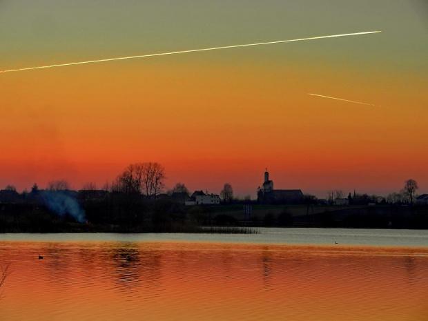 o zachodzie na Jeziorze Osowskim #zachód #sunset #jezioro #lake #pond