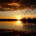 #jezioro #zachód #słońce #wieczór #krajobraz