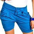 spodenki z kokardką niebieskie. Idealne na lato. Stan bdb #ubrania #modne #tanio